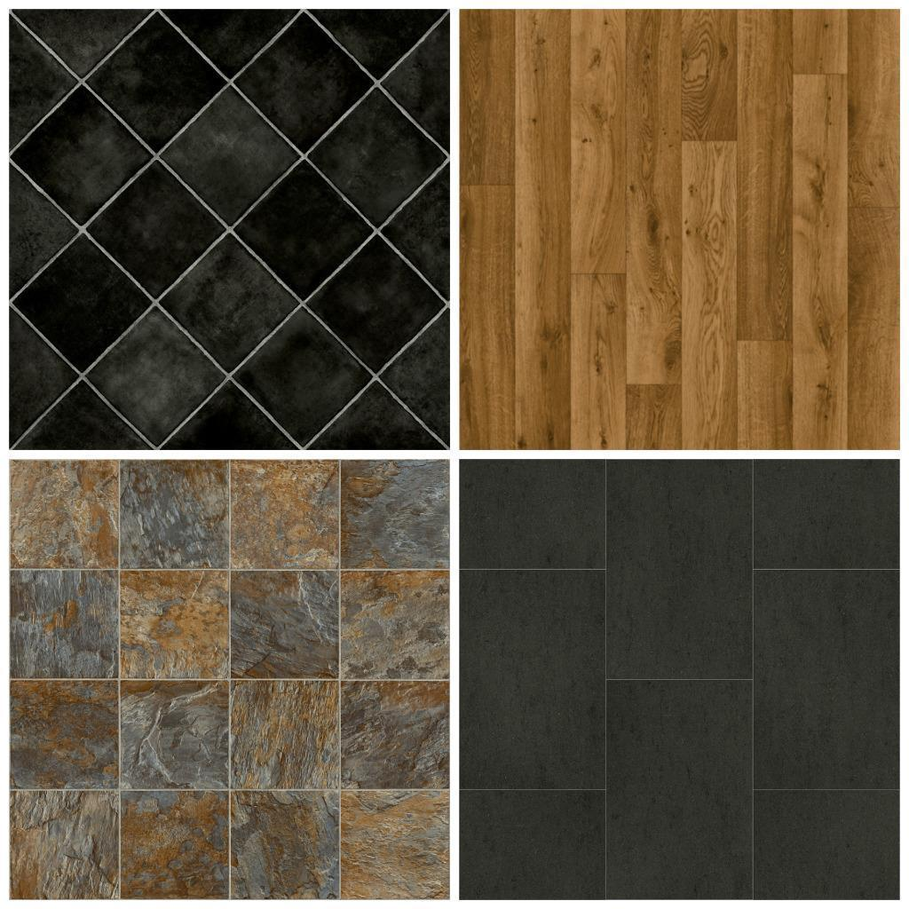 Cheap vinyl flooring brand new lino 3m wide non slip free delivery wood tile ebay Vinyl tile floor